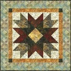 DOUBLE SAW TOOTH STAR QUILT...........PC