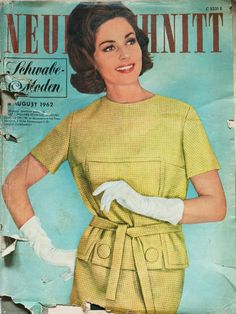Neuer schnitt 08/1962  Vintage sewing pattern magazine from my collection. Full scan.
