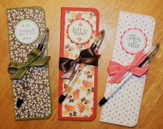 This blog has lots of wonderful paper crafts such as these skinny notebooks