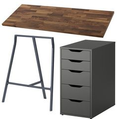 Two Person Desk Design Ideas for Your Home Office # Ideas . - Ikea DIY - The best IKEA hacks all in one place Home Office Setup, Home Office Space, Home Office Desks, Home Office Furniture, Office Decor, Office Ideas, Furniture Nyc, Office Designs, Cheap Furniture