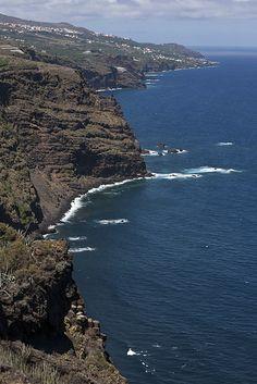 Playa de Nogales coastline La Palma, Canary Island