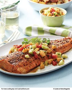 Planked Salmon | Cuisine at home eRecipes