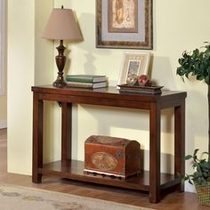 Furniture of america Estell dark cherry finish wood and sofa console entry table Entryway Furniture, Table Furniture, Entryway Tables, Cherry Furniture, Kitchen Furniture, Entryway Decor, Furniture Nyc, Entryway Ideas, Furniture Online