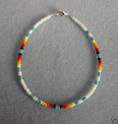 White-Turquoise-Anklet-Ankle-Bracelet-Native-American
