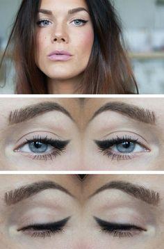 Soft winged eyeliner.