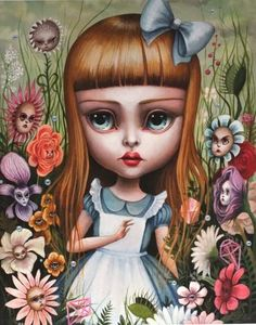 ALICE IN THE GARDEN OF LIVE FLOWERS BY MAB GRAVES