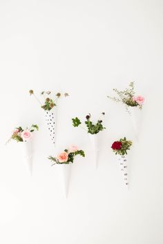 DIY Floral Wall Sconces: http://www.stylemepretty.com/living/2015/06/11/top-15-easiest-party-diys-ever/