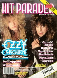 Hit Parader music magazine, February 1989 (Ozzy Osbourne)
