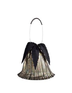 a8baa280cc Issey Miyake Vintage Black   Gold Iridescent Pleated Bag - from Amarcord  Vintage Fashion Pleated Fabric