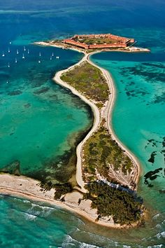 Dry tortugas national park, Florida, United States...  2 hr boat trip there and 2 hrs back... I recommend;) went there Dec 2012
