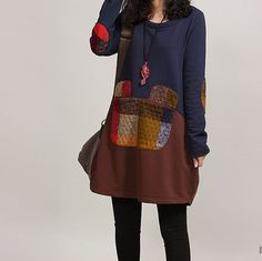 2014 Spring clothes Cotton dress cotton tops by PerfectChlothing, $58.90