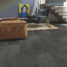 Buy Quick-Step Livyn Ambient Click Grey Slate today and take advantage of nationwide delivery from the UK's number one Q/step vinyl flooring supplier. Vinyl Sheet Flooring, Vinyl Flooring Kitchen, Slate Flooring, Luxury Vinyl Flooring, Luxury Vinyl Tile, Quick Step Flooring, Vinyl Tiles, Vinyl Wood, Grey Slate