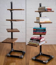 Amazing freestanding shelf built with #keeklamp fitting and pipe #pipefurniture #industrialstyle #industrial #pipe #shelf #modern #modernfurniture
