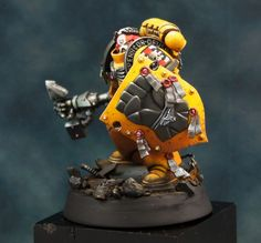Warhammer 40K Truescale Imperial Fist Space Marine Painted for Charity   eBay