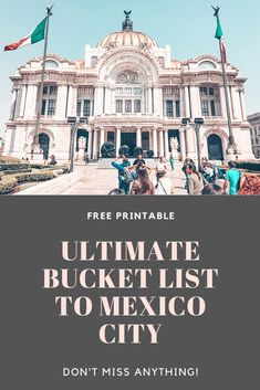 Get a free printable bucket list to Mexico City. Don't miss out on the top things to do in the Mexican Capital. All the things to do in Mexico City. Mexican food, architecture, attractions and more. #mexico #mexicocity #CDMX #travel #mexicotravel New Zealand Travel, Mexico Travel, Merida, Countries Around The World, Around The Worlds, Attraction, México City, Travel Guides, Travel Tips