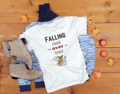 Falling Head Over Heels Shirt Cute Fall Shirt Fall Shirt | Etsy
