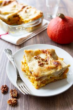 Lasagnes au potimarron et noix - Ôdélices : Recettes de cuisine faciles et originales !