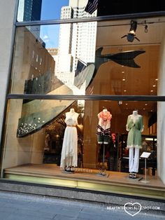 The rest of the wooden whale. Anthropologie Window Display - Under the Sea Extended Rockefeller Center Edition