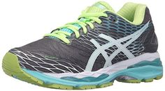 Big deal ASICS Women's Gel-Nimbus 18 Running Shoe, Titanium/White/Turquoise, 9 D US discover this and many other bargains in Crazy by Deals, we bring daily the best discounts for you Asics Running Shoes, Asics Shoes, Lace Up Shoes, Me Too Shoes, White Shoes, Turquoise Shoes, Fitness Wear Women, Holiday Shoes, Special Occasion Shoes