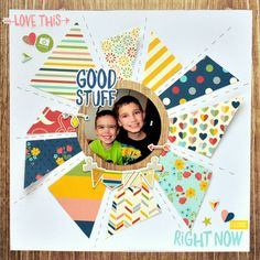 #papercraft #scrapbook #layout  Simple Stories Life Documented layout by Christine Meyer.