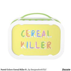 Pastel Colors Cereal Killer Pun Replacement Plate