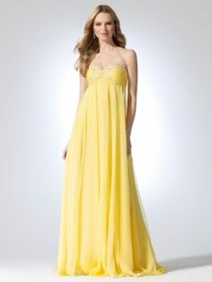 Lemon Strapless chiffon dress with bead and sequin detailed pleated bust [#O8021J04961024] - $179.00 : Crazeparty.com, Dare to be Different!