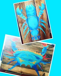 Sixteen year old artist, Hannah Sloat is giving us something to cheer up our Monday morning blues!  This talented young artist free hands these wood planks and can custom any size to your liking.  See these and more designs starting May 6th @ 103 Annapolis St.  So excited to debut her, HERE.!!! #hereapopupshop #newartist #hannahsloat #chaseawaythosemondayblues #crab #lobster #cantwait #maypopup #seeyousoon #cantwaittoseeyouHERE