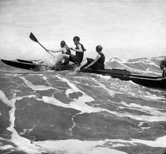 Rico Broadwater, Gugy Kuhn, and Lisbeth Thomas on a pedal-boat, Deauville, 1917