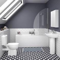 Brisbane 5-Piece Modern Bathroom Suite - Various Bath Sizes