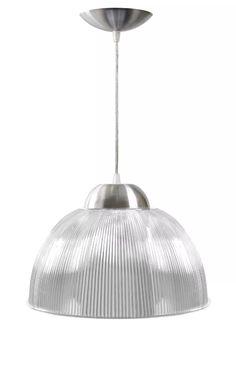 kit c/ 5un - lustre acrílico pendente prismático 12 cristal