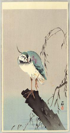 Ohara Koson, Green Heron, ca. 1910s