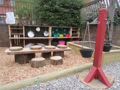 Spielplatz im Garten - Fotos und kreative Ideen You are in the right place about Outdoor play areas for babies Here we offer you the most beautiful Outdoor Learning Spaces, Kids Outdoor Play, Outdoor Play Areas, Backyard For Kids, Outdoor Fun, Backyard Ideas, Garden Kids, Family Garden, Outdoor Toys