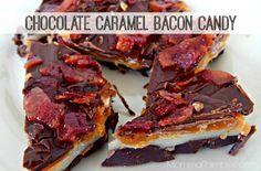 Chocolate Caramel Bacon Candy #Recipe!