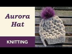 Aurora Knit Hat Pattern · Crazy Hands Knitting Beanie Knitting Patterns Free, Beginner Knitting Patterns, Knitting For Beginners, Loom Knitting, Free Knitting, Hat Patterns, Knitting Projects, Knitting Accessories, Knitted Hats