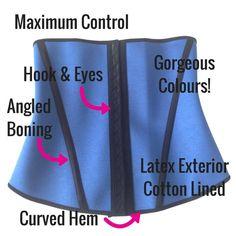eee7083a01b53 Esbelt Waist Training Waist Cincher Corset ES062. MAXIMUM slimming control.  GORGEOUS colours. 4
