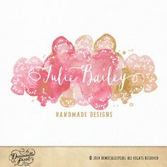 Watercolor Doilies Premade Logo with Lace and by Demoisellepixel ($50 incl. logo and watermark)