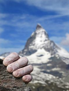 Climb! Mount Cervino (Matterhorn) in the background (Swiss-Italian Alps).