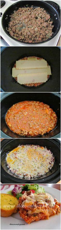 Crock Pot Lasagna ~ GuideKitchen                                                                                                                                                                                 More