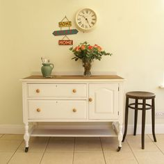 Unusual, Vintage, Country style dresser/kitchen unit painted Laura Ashley Ivory | eBay
