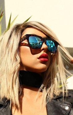 blue designer sunglasses  Quay Australia HARPER Black Smoke Designer Sunglasses