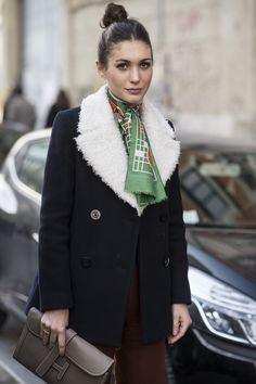 how to wear trends silk scarf - Google Search