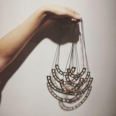SAMARRA NECKLACE  #necklace #jewelry #jewellery #rosegold #geometric #beautiful #pretty #cool #fashion #trend #chic #urban #metalsmithing #handmade #hattonstudios #gift #shopping #nomerajewellery #online nomerajewellery.com