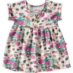 Vestido de Bebê Menina Floral Lilás - Brandili :: 764 Kids | Roupa bebê e infantil