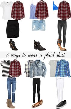 6 Ways to wear your plaid shirt