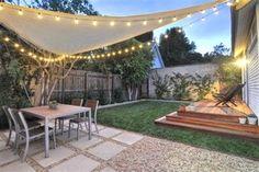 7 Clear Tips: Dream Backyard Garden small backyard garden garten.Backyard Garden Design How To Grow. Backyard Shade, Backyard Seating, Small Backyard Landscaping, Landscaping Ideas, Backyard Layout, Backyard Pergola, Outdoor Shade, Landscaping Plants, Terraced Backyard
