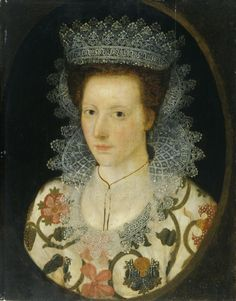 ca century portrait of Mrs Bennett Hawkins (with a most unusual lace headdress) Oil on panel, x cm Collection: Amgueddfa Cymru – National Museum Wales 16th Century Fashion, 17th Century, Renaissance, Mrs Bennet, Old Portraits, Time Painting, Neck Choker, Crewel Embroidery, Art Uk