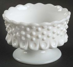 Fenton Milk Glass | Fenton Hobnail Milk Glass Open Nut Dish 124928 | eBay