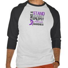 Take a Stand Against Epilepsy Tee Shirt by www.giftsforawareness.com #awareness #Epilepsy