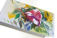 Rose. Hand made watercolor greeting card. Make a gift worth opening.
