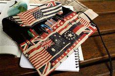 Patriotic Pencil Roll Case